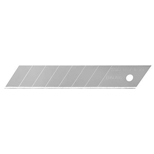 Stanley Abbrechklingen (18 mm, gerade Schneide, 0,55 mm Schneidstärke, 110 mm Klingenlänge, 10 Stück im Spender) 0-11-301