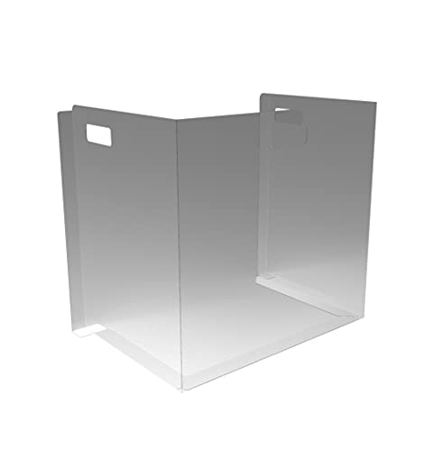 School Sneeze Desk Shield PPE - Plastic Partition Divider Screen for Desk, Table or Countertop - Portable Protective Barrier Panel - Best Partition Protector for Classroom or Office