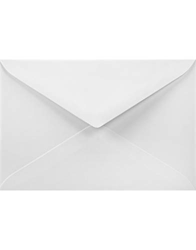 25 Stück Naturweiß DIN B6 Briefumschläge, 120x180mm, 120g, Acquerello Bianco mit Linienstruktur, Spitzkappe, ohne Fenster, ideal für Hochzeit, Weihnachten, Geburtstagskarten, Grußkarten, Einladungen