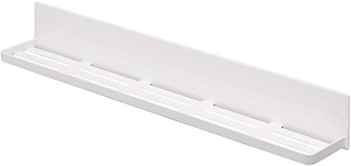 山崎実業(Yamazaki) マグネット バスルームラック ロング ホワイト 約W60XD8.5XH8cm タワー 浴室収納 水はけ穴あり フック付き 4858