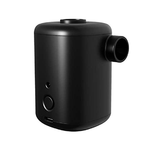 xllLU Mini bomba de aire eléctrica portátil USB recargable 4 boquillas inflador desflactor natación anillo aire colchón bomba
