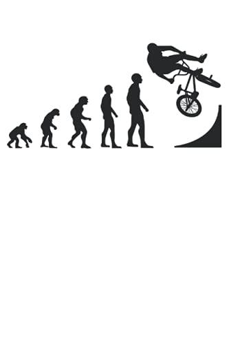 BMX Bike Fahrer BMX Rad Freestyle Evolution Geschenk Notizbuch (Taschenbuch DIN A 5 Format Liniert): BMX Rad Geschenk Notizheft, Schreibheft, ... Fahrrad Design für Damen, Herren und Kinder.