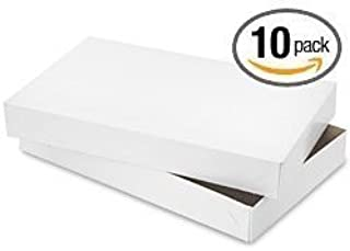 10 Shirt Boxes for Apparel and Gifts (White Matte)