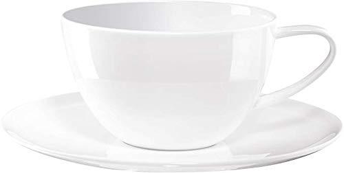 ASA Caf' au lait Tasse avec soucoupe ATABLE de 12,1 cm, h. 7,3 cm, 0,35 l 1965013 ! Le kit comprend 2 pièces et 4 pailles en acier inoxydable EKM Living