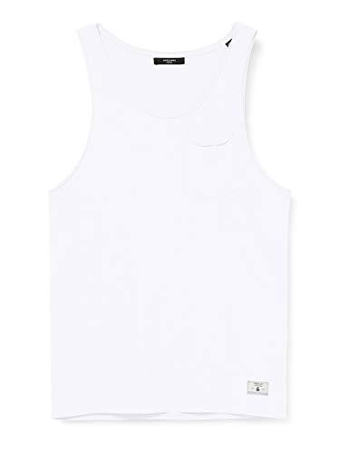 JACK & JONES Herren JPRSCOTT BLA. Tank TOP T-Shirt, White, L