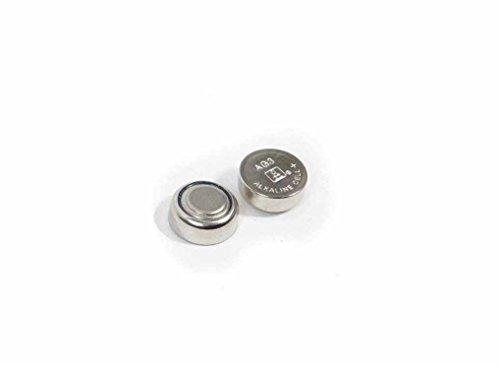 Deet AG13 / LR44 / SR44W Alkaline-Batterien, 1,5 V, für Armbanduhr, Laserpointer etc., 1,5 V, 2 Stück