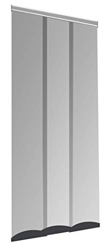 Windhager Insektenschutz PLUS COMFORT, Türvorhang, Lamellenvorhang, Fliegengitter, individuell kürzbar, 95 x 220 cm, anthrazit, 04340