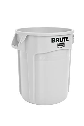 Rubbermaid Commercial Products Commercial Brute Round Container 75.7L - White