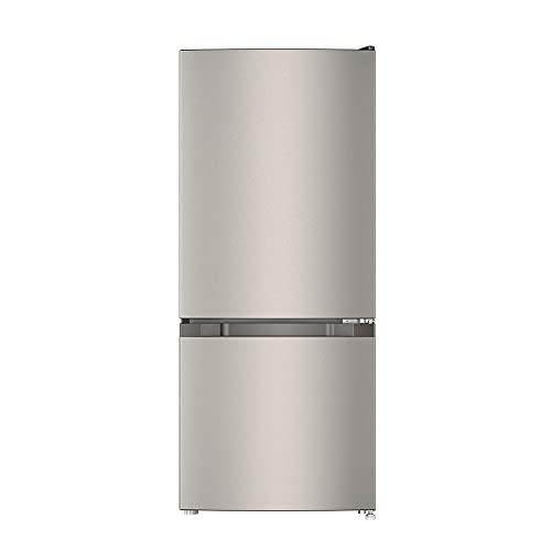 CHiQ Freistehender Kühlschrank mit Gefrierfach   Kühl-Gefrierkombination Low-frost Technologie   12 Jahre Garantie auf den Kompressor*, Dunkler Edelstahl Look (117L)   114 x 47 x 49,5 cm (HxBxT)