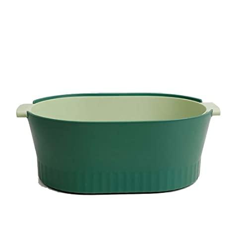 Jiangchenxi Accesorio de cocina de plástico colador de verduras, cesta de malla colador para utensilios de cocina de calidad alimentaria, color verde limpio