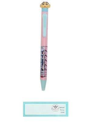 クレヨンしんちゃん ボールペン のっかりペン 日本製 幼稚園しんちゃん 当店オリジナルロゴ入り2点セット(ボールペン、名前シール)