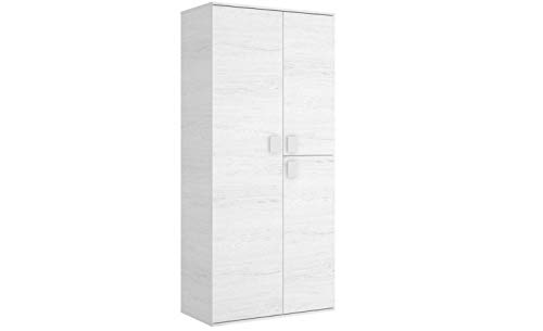 Mobelcenter - Armario 3 Puertas 90 cm - Color Blanco Artic - Medidas: Ancho: 90 cm x Alto: 202 cm x Fondo: 53 cm - (1084)