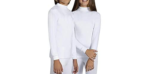 tex leaves Camiseta Interior Térmica para Niños Unisex - Colores a Elegir (Negro, 11-12 años)