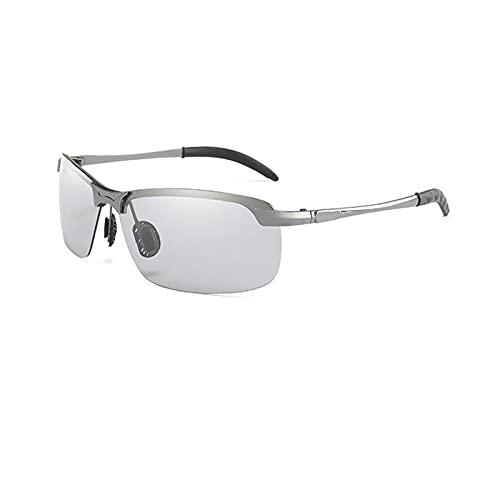 YUANBOO Nuevas Gafas de Sol fotocrómicas Hombres Polarizados Conducción Camaleón Gafas Masculino Cambio de Color Gafas de Sol Día y Visión Nocturna (Lenses Color : C2)