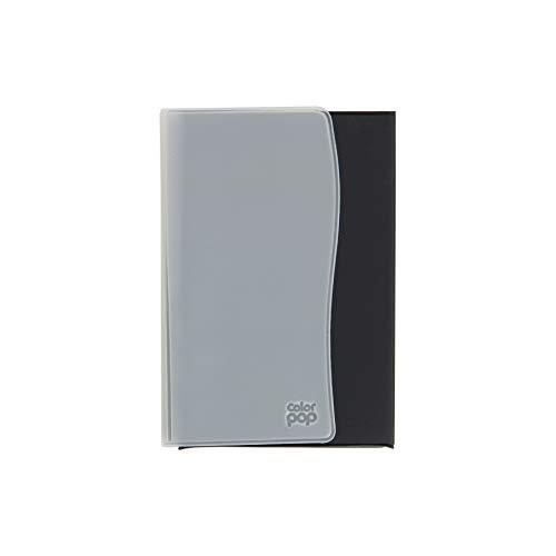 Color Pop 550052 Étui pour Papiers de Véhicule : Carte Grise, Permis de Conduire, Assurance, Gris Anthracite