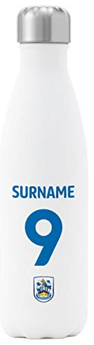 Huddersfield Town AFC Personalised Back Of Shirt Insulated Water Bottle - White