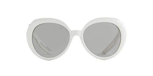 Balenciaga Sonnenbrillen BB0024S 003 grau weiß Größe 58-mm-Brillen-frau