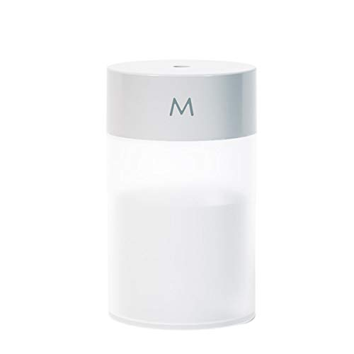 Difusor de aroma de 260 ml, con luz nocturna colorida USB, humidificador para el hogar, viajes, oficina, dormitorio (negro)