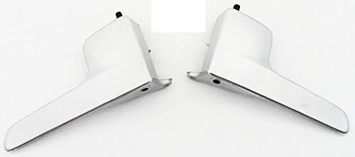 Kit Maçaneta / Aro / Botão / Friso Painel Fox 2 Portas Cromo Acetinado GComponentes
