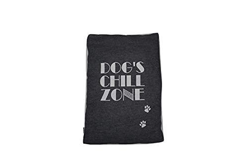 David Fussenegger Hundekissenhülle 'dog's chillzone' 60 x 90 cm Anthrazit