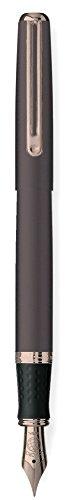 Pluma de acero inoxidable Con grip antideslizante Plumín de acero inoxidable y punta de iridio de 1 mm Para cartuchos de 38 y 72 mm