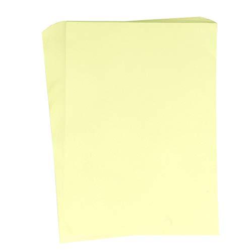 NUOBESTY 100 Hojas A4 Papel de impresión Papeles para Escribir a máquina Manual Papel Artesanal de Corte para Suministros Escolares de Oficina Impresora de inyección de Tinta (Amarillo Claro)