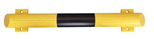 1A-Safety Rammschutzbalken RSBA-800, Durchmesser: 76 mm Gütestahl, Länge 800 mm, Gelb/Schwarz, Rammschutz, Unfallschutz, Sicherheitsbalken, Absperrung, Balken