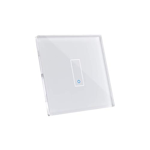 iotty Smart Switch modèle E1 -Simple Inrerrupteur Wi-Fi facile à installer pour l'automatisation de votre maison. Blanc