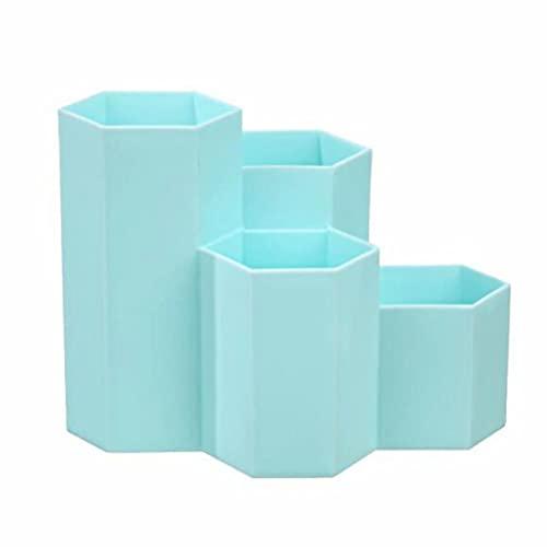 Portalápices Hexagonal,Portalápices Hexagonal de Plástico,Soporte para Organizador de Bolígrafos,para Oficina, Hogar, Escuela.
