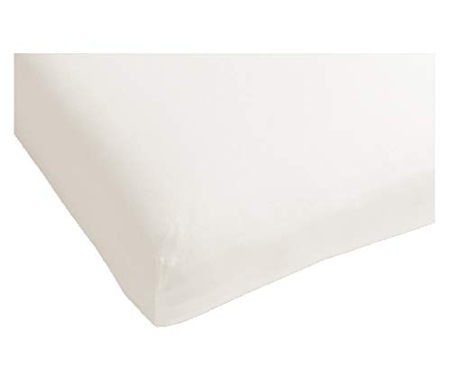 Heckett Lane Perkal Uni Hoeslaken Topper 90x210-220+12 cm - White