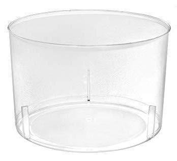 TELEVASO - 96 uds - Vaso Vino Chikito 220 ml - Plástico cristalino (PS) - Color Transparente - Ideal para Vino, Cerveza, Aperitivos, gazpacho, cremas, postres