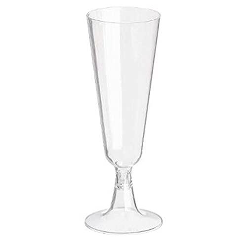 """FIVE Simply Smart - Lot de 12 Flûtes à Champagne""""Jetable"""" 15cl Transparent"""