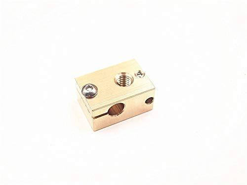 L-Yune,bolt 3D Printer Parts V6 Copper Heater Block For Sensor Cartridges Apply Reprap For Prusa I3 And V6 Hotend Kit (Size : 1 sock and block)