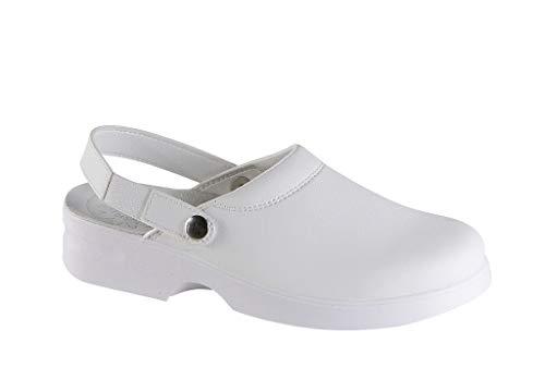 Safe Way Damenberufsclog 955 weiß rutschhemmend ohne Schutzkappe (39)