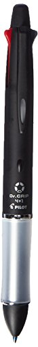 Pilot Multi Function Pen Dr. Grip 4 Plus 1, 0.7mm Acro Ink Ballpoint Pen, 0.5mm Mechanical Pencil, Black (BKHDF1SF-B)