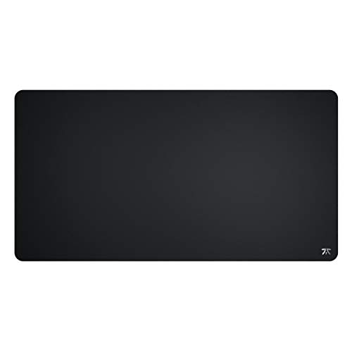 Fnatic Dash XD Extended Pro Gaming Mouse Mat for Esports with Stitched Edges and Anti-Slip Rubber Base, Fast Surface (Size XL Desktop, Extended, Black, Hybrid Fabric) - 950 x 500 x 3mm