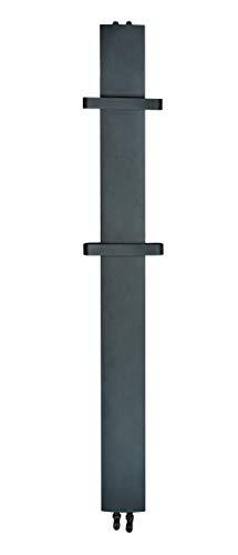 TMX STILO - Radiador de toallas (1800 x 170 mm, 555 W), color negro