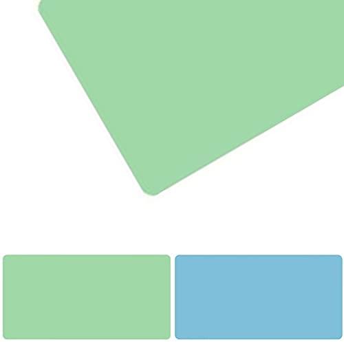 Alfombrilla de ratón antideslizante, impermeable, de piel sintética, de piel sintética, doble cara, uso de color para PU, juegos en casa, oficina, Verde + azul (Size:70x110)