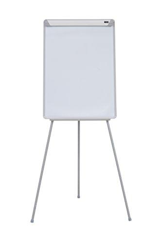 Bi-Office Easy - Pizarra Magnética con Caballete de Trípode, con brazos extensibles, marco gris, 60 x 85 cm, para rotafolios