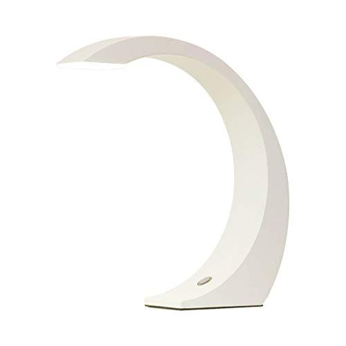 Lampes de table Chambre Salon Lampe De Chevet Travail Apprentissage Lecture Personnalité Simple Touche Moderne LED (Color : Blanc, Size : 31 * 35cm)