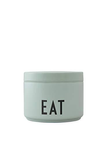 Design Letters Thermobehälter für Essen Grün |330 ml| Isolierte Brotdose aus Edelstahl | BPA-frei |Thermo essensbehälter ideal für Kinder und Erwachsene unterwegs, für warme und kalte Speisen
