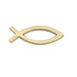 Pince à cravate 19x6mm représentent le symbole du poisson