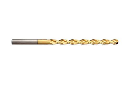 Presto 041653.0 HSCo Worm Pattern Long Series Drill, P5 finitura rivestita in titanio, 66 mm lunghezza flauto, diametro 3,00 mm, lunghezza 100 mm