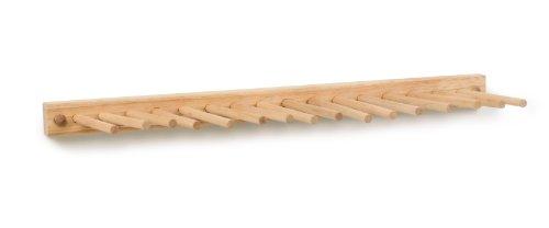Spectrum Diversified Wood Wall Hook Rack, 7 Peg, Bamboo