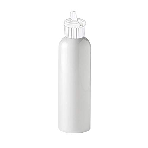 MoYo Natural Labs 4 oz Squirt Bottles, Squeezable Empty Travel Containers BPA Free HDPE Plastic for Essential Oils and Liquids, Toiletry/Cosmetic 20-410 Neck Bottle (Pack of 4, HDPE Translucent White)