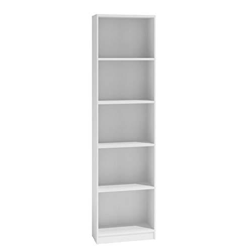 Mirjan24 Standregal Harvard, Bücherregal mit 5 Fächer, Aktenregal Universal Regal Schranke (Weiß, R40)