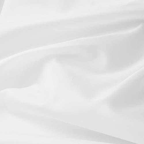 aktivstoffe Seda Tafetán - 100% poliéster - por Metro - 27 Colores (Blanco)
