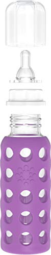 Lifefactory BPA-Free Glass Baby Bottle with Protective...