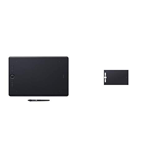 Wacom PTH-860 Intuos Pro L Tableta gráfica con lápiz Digital Pro Pen 2 / Tableta digitalizadora para Pintura y diseño Digital + Hoja de Textura ACK122311 (Talla: L) Lisa, Negro