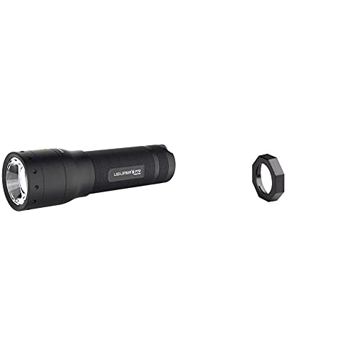 Led Lenser Zweibrüder P7R Box,Linterna Eine Der Beliebtesten Linternan Aus Der P-Serie Als Aufladbares Modell. + Ledlenser Roll Protection + Filtres 4 Colores Compatibles B7-H14-H14R-L7-L7E-M7